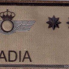 Militaria: PARCHE EMBLEMA MILITAR EJERCITO AIRE PILOTO ABADIA CON VELCRO DETRAS AAA. Lote 59920283