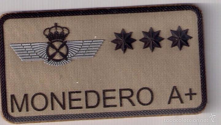 PARCHE EMBLEMA MILITAR EJERCITO AIRE PILOTO MONEDERO CON VELCRO DETRAS AAA (Militar - Parches de tela )
