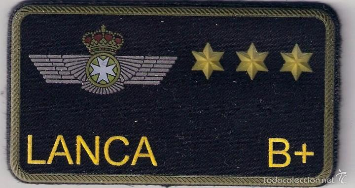 PARCHE EMBLEMA MILITAR EJERCITO AIRE PILOTO LANCA CON VELCRO DETRAS AAA (Militar - Parches de tela )