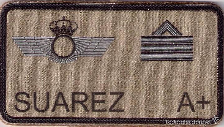PARCHE EMBLEMA MILITAR EJERCITO AIRE PILOTO SUAREZ CON VELCRO DETRAS AAA (Militar - Parches de tela )