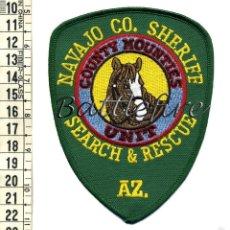 Militaria: PARCHE NAVAJO COUNTY SHERIFF - ARIZONA - BUSQUEDA Y RESCATE - UNIDAD MONTADA - POLICIA - USA. Lote 60679027