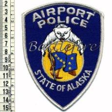 Militaria: ALASKA - POLICIA AEROPUERTO - USA - ANCHORAGE - ANTIGUO PARCHE. Lote 62157452