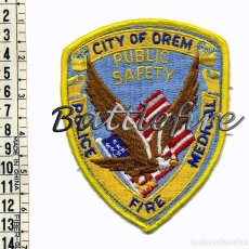 Militaria: OREM - UTAH - USA - SERVICIOS PUBLICOS DE EMERGENCIAS - POLICIA BOMBEROS AMBULANCIAS. Lote 68852025
