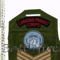 Militaria: BRAZAL POLICIA MILITAR CANADA - NACIONES UNIDAS - CASCOS AZULES ONU - CANADIAN PROVOST CORPS. Lote 68867641