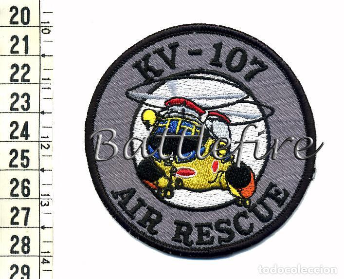 KV-107 AIR RESCUE - PARCHE SAR - JAPÓN (Militar - Parches de tela )