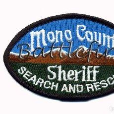 Militaria: MONO COUNTY SHERIFF - CALIFORNIA - USA - UNIDAD DE BUSQUEDA Y RESCATE - POLICIA - SALVAMENTO. Lote 75265439