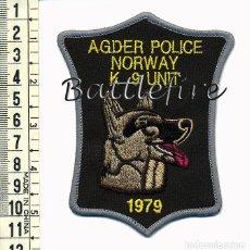 Militaria: POLICIA - UNIDAD CANINA K9 - AGDER NORUEGA. Lote 75638615