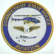 Militaria: PARCHE POLICIA USA CONNECTICUT UNIDAD AEREA HELICOPTEROS. Lote 76575587