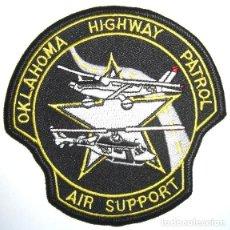 Militaria: PARCHE POLICIA USA OKLAHOMA UNIDAD AEREA HELICOPTEROS. Lote 76577223