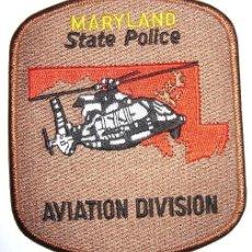 Militaria: PARCHE POLICIA USA MARYLAND UNIDAD AEREA HELICOPTEROS. Lote 76577315