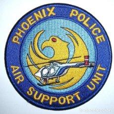 Militaria: PARCHE POLICIA USA PHOENIX UNIDAD AEREA HELICOPTEROS. Lote 76577427