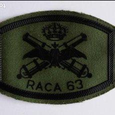 Militaria: PARCHE DE TELA DE ARTILLERIA ,RACA 63 . Lote 78154073