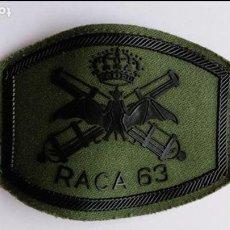 Militaria: PARCHE DE TELA DE ARTILLERIA ,RACA 63 . Lote 78154197