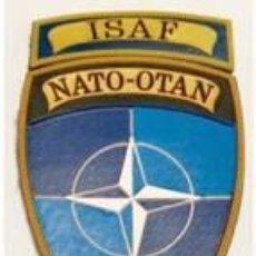 Militaria: ESTUPENDO PARCHE OTAN MISION DE AFGANISTAN CON VELCRO INCLUIDO 6,5 X 10,5 CMTS. Lote 141833972