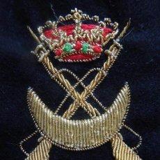 Militaria: DISTINTIVO PERMANENCIA EN REGULARES. BORDADO EN HILO DE CANUTILLO. . Lote 84417908