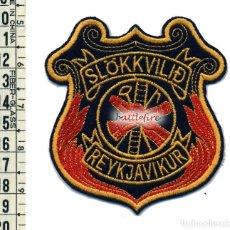 Militaria: SLOKKVILID REYKJAVIKUR - ISLANDIA - PARCHE BOMBERO. Lote 84592872