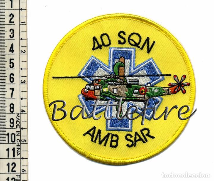 40 SQD - AMB SAR - FUERZAS AEREAS - BÉLGICA - PARCHE BUSQUEDA Y RESCATE (Militar - Parches de tela )