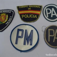 Militaria: * LOTE 4 PARCHE DISTINTOS DE POLICIA, PARCHES ORIGINALES. ZX. Lote 87068412