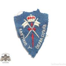 Militaria: PARCHE ORIGINAL - CABALLERÍA SANTIAGO Y CIERRA ESPAÑA. GUERRA CIVIL. . Lote 89761588