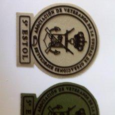 Militaria: LOTE DE 2 PARCHES VETERANOS UOE DE INFANTERÍA DE MARINA 5º ESTOL, 1 PARCHE ARENA Y 1 PARCHE VERDE. Lote 92726220