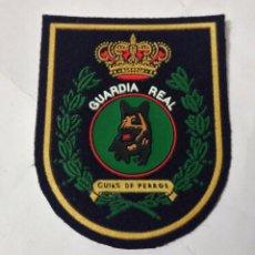Militaria: PARCHE GUARDIA REAL, UNIDAD CANINA,GUIAS DE PERROS, 7,5X6,. Lote 221509641
