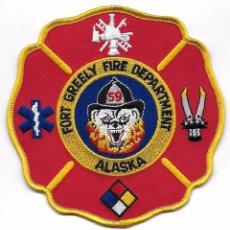 Militaria: PARCHE BOMBEROS USA ALASKA FORT GREELY. Lote 95452667