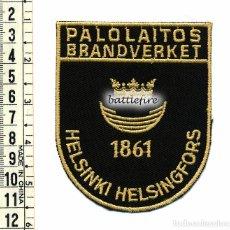 Militaria: BOMBEROS HELSINKI - FINLANDIA - PARCHE BOMBERO. Lote 95970407