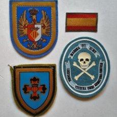 Militaria: LOTE CUERPO EJERCITO MAESTRAZGO Y LUSITANIA - DISTINTIVOS O PARCHES DE TELA - GUERRA CIVIL. Lote 96935463