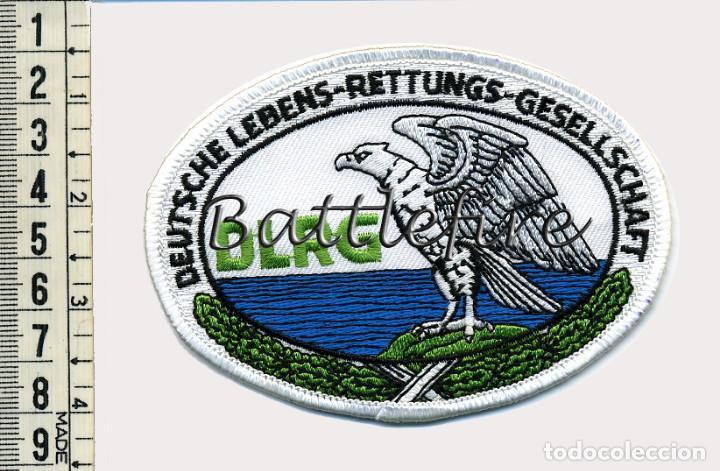 DLRG - DEUTSCHE LEBENS-RETTUNGS-GESELLSCHAFT - ALEMANIA - PARCHE SALVAMENTO MARITIMO (Militar - Parches de tela )