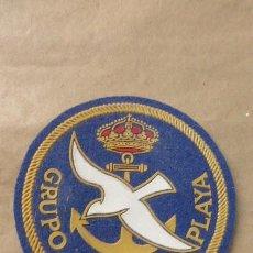 Militaria: EMBLEMA TELA PLASTIFICADA.GRUPO NAVAL DE PLAYA..ORIGINAL DE LOS 80.. Lote 96970819
