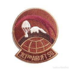 Militaria: PARCHE ORIGINAL AMERICANO,313TH AIRLIFT SQ. Lote 97125907