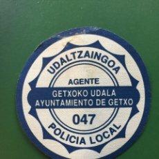 Militaria: PARCHE EMBLEMA ESCUDO POLICÍA LOCAL. GETXO. Lote 98877731