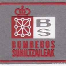 Militaria: PARCHE EMBLEMA ESCUDO BOMBEROS NAVARRA BOMBERO SUHILTZAILEAK BS AAA. Lote 207891246