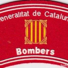 Militaria: PARCHE EMBLEMA ESCUDO BOMBERO BOMBEROS CATALUÑA ESPAÑA AAA. Lote 101347270