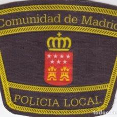 Militaria: PARCHE EMBLEMA ESCUDO POLICÍA LOCAL COMUNIDAD DE MADRID MODELO GENÉRICO BRAZO AAA. Lote 99342891