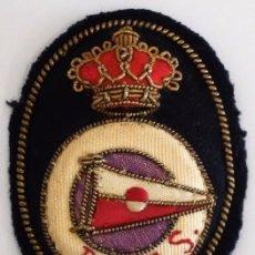 Militaria: ANTIGUO PARCHE REAL CLUB NAUTICO EPOCA ALFONSO XIII. Lote 99518479