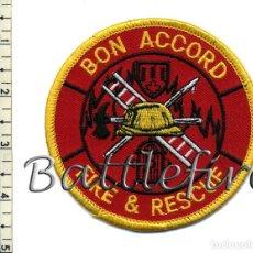 Militaria: BON ACCORD FIRE & RESCUE - CANADA - PARCHE BOMBERO. Lote 100545443