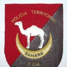 Militaria: PARCHE POLICIA TERRITORIAL DEL SAHARA 1ª CIA AAIUN. Lote 109356047