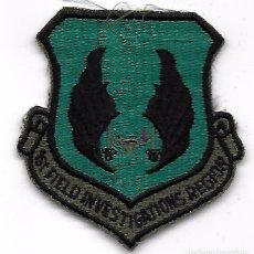 Militaria: PARCHE AVIACION USA USAF 1ST FIELD INVESTIGATIONS REGIOR. Lote 103524227