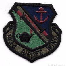 Militaria: PARCHE AVIACION USA USAF 143D AIRFLIFT WING. Lote 103524375