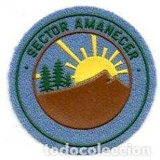 Militaria: PARCHE SECTOR AMANECER BOY SCOUTS DE MADRID AÑOS 80. Lote 128000766
