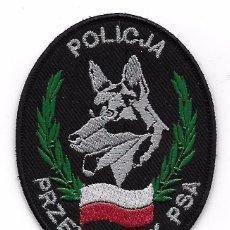 Militaria: PARCHE POLICIA POLONIA K9 UNIDAD CANINA. Lote 104031059