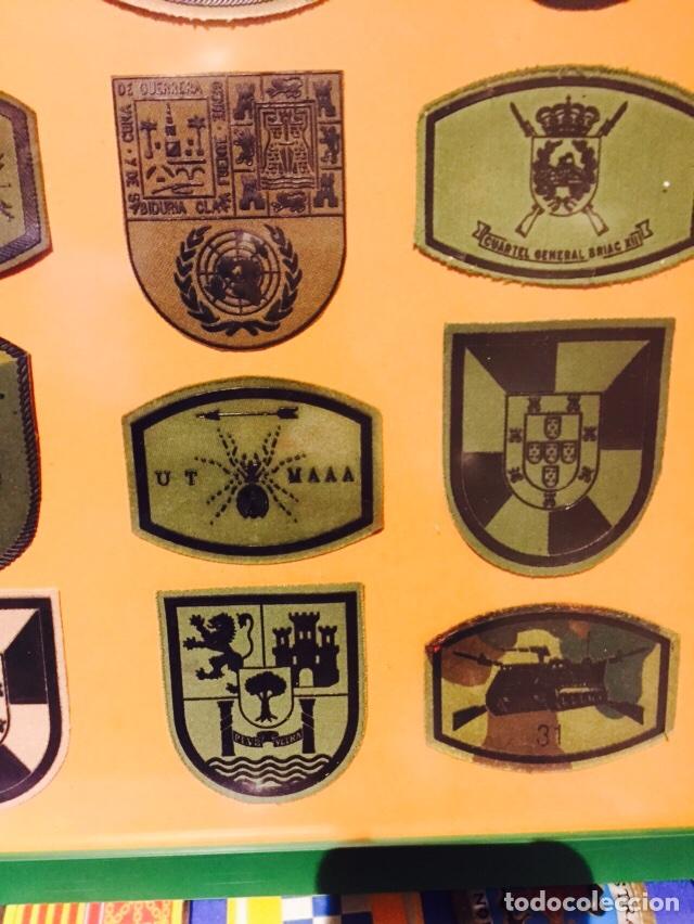 Militaria: Lote de 40 parches militares enmarcados - Foto 4 - 107154640