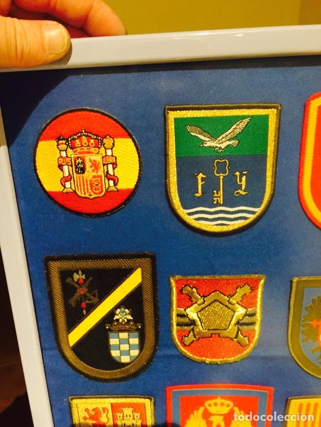 Militaria: Lote de 40 parches militares enmarcados - Foto 7 - 107154640