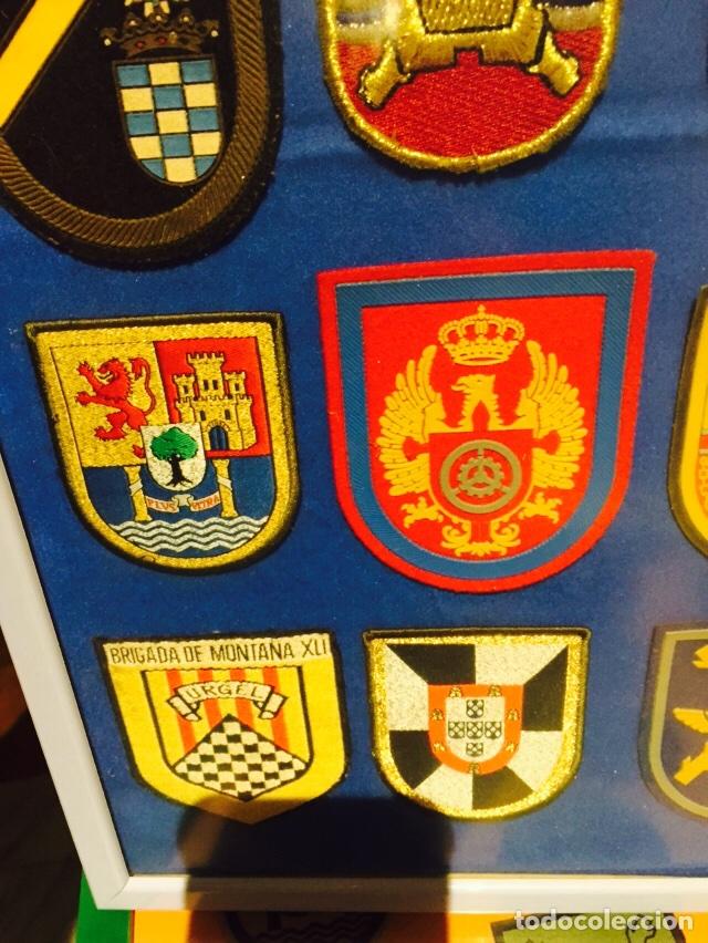 Militaria: Lote de 40 parches militares enmarcados - Foto 8 - 107154640