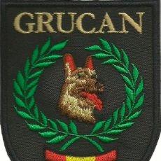 Militaria: PARCHE DEL GRUPO CANINO DE LA POLICÍA LOCAL DE MELILLA GRUCAN BORDADO. Lote 110145907