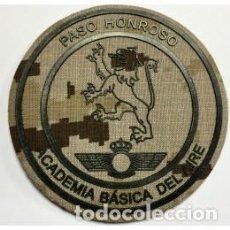 Militaria: ESTUPENDO PARCHE DE LA ACADEMIA GENERAL DEL EJERCITO DEL AIRE -PASO HONROSO-EN ÁRIDO PIXELADO. Lote 111317171