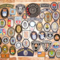 Militaria: LOTE DE 60 PARCHES DE POLICIA ESPAÑA. Lote 112140246