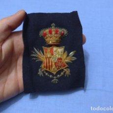 Militaria: * ANTIGUO Y RARO PARCHE BORDADO DE ALFONSO XIII A IDENTIFICAR. ORIGINAL Y PRECIOSO. ZX. Lote 112601343