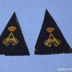 Militaria: * ANTIGUA PAREJA DE HOMBRERAS DE ALFONSO XIII. ORIGINALES. ZX. Lote 112603239